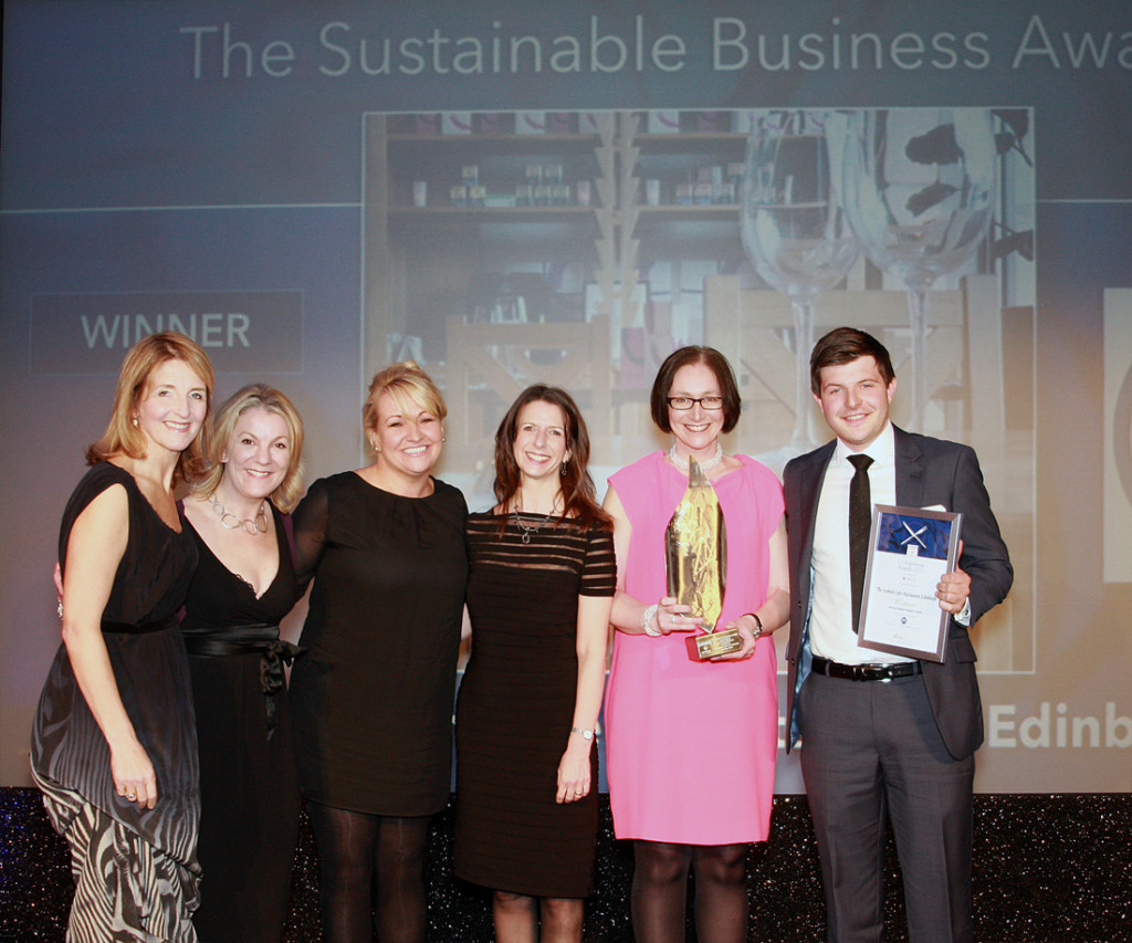 Awards 2013.Sustainable Business Award.Scottish Cafe and Restaurant